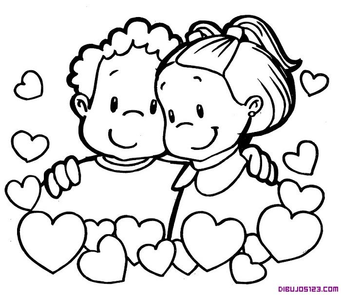 Para Colorear Dibujos De Niños Abrazados Imagui